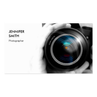 Simply Black and White Photographer Camera Lens Pack Of Standard Business Cards