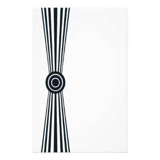 Simply black and white stationery