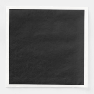 Simply Black Solid Color Customize It Disposable Napkin