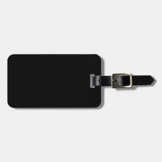Simply Black Solid Color Customize It Luggage Tag