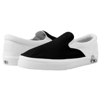 Simply Black Solid Color Customize It Slip-On Shoes