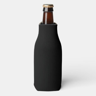 Simply Black Solid Colour Customise It Bottle Cooler