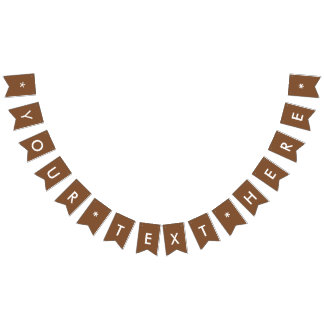 Simply Brown Solid Color Customize It Bunting