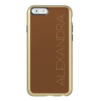 Simply Brown Solid Color Incipio Feather® Shine iPhone 6 Case