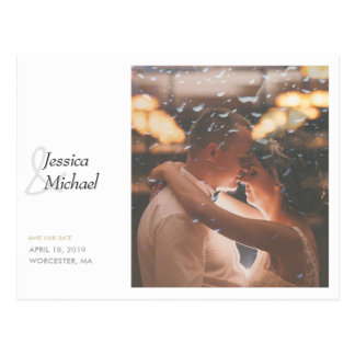 Simply Chic Photo Wedding Save the Date Postcard