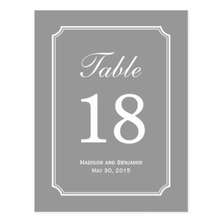 Simply Chic Wedding Table Number Card