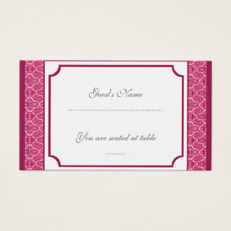 Simply Classic Damask Wedding Placecard