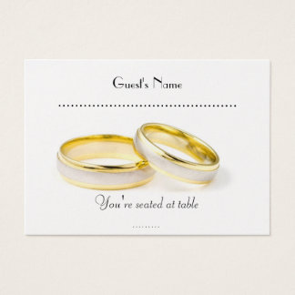 Simply Classic  Wedding Rings & Table Placecard