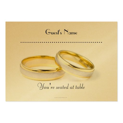 Simply Classic  Wedding Rings & Table Placecard Business Cards