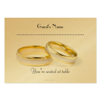 Simply Classic  Wedding Rings & Table Placecard Pack Of Chubby Business Cards