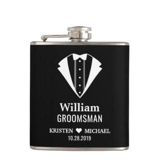 Simply Classy Tuxedo Suit Wedding Groom Groomsman Hip Flask