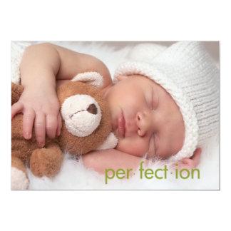 Simply Clean Baby Announements photo postcards 13 Cm X 18 Cm Invitation Card
