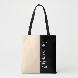 Simply colors LIGHT BROWN & your Text Tote Bag