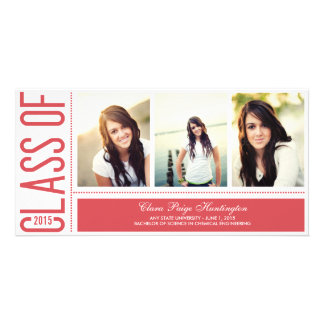Simply Cool Graduation Announcement Customized Photo Card