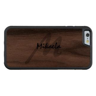 Simply Custom Personalised Monogrammed Walnut iPhone 6 Bumper Case