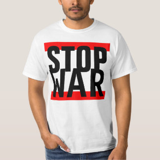 "Simply design ""stripes red STOP WAR"" T-Shirt"