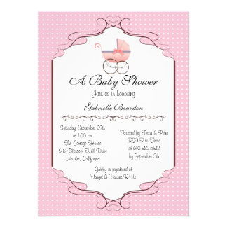 Simply Elegant Baby Shower Personalized Invite