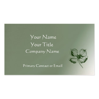 Simply Elegant Dogwood Business Card
