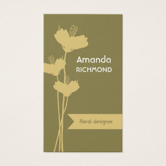 Simply elegant floral designer business card