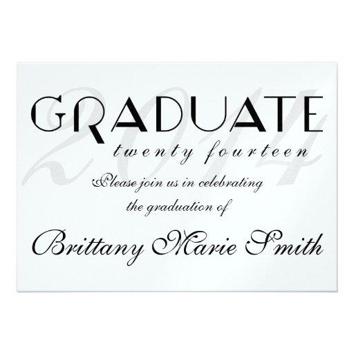 Simply Elegant Formal 2014 Graduate Invitation