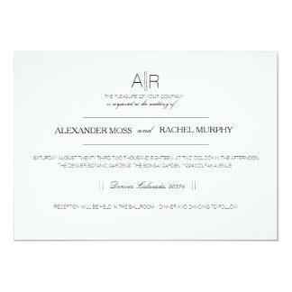 Simply Elegant   Modern Custom Initials Card
