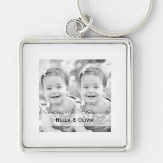 Simply Elegant Photo Keychain