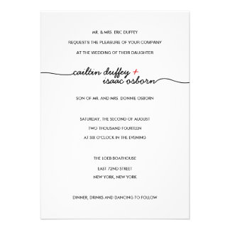 Simply Elegant Red Wedding Invitation