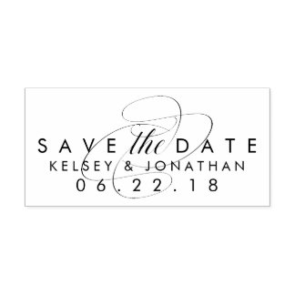 Simply Elegant Save the Date Stamp