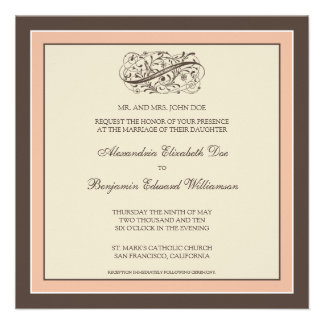 Simply Elegant Wedding Invitation (baby pink)