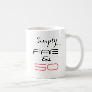Simply Fab & 50 - Birthday Mug. Coffee Mug