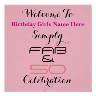 Simply Fab & 50 Birthday - Poster
