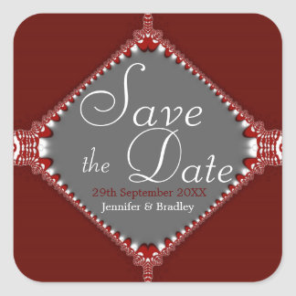 Simply Fancy Save the Date Sticker