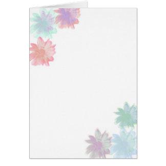 Simply Flowers Blank Notecard Card
