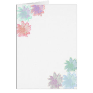 Simply Flowers Blank Notecard Greeting Card