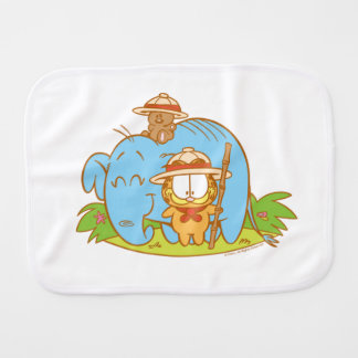 Simply Garfield and Pooky with a Blue Elephant Burp Cloths