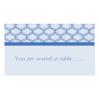 Simply Glamourous Wedding Placecard, Blue Pack Of Standard Business Cards