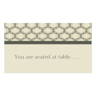 Simply Glamourous Wedding Placecard, Espresso Pack Of Standard Business Cards