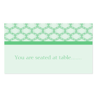Simply Glamourous Wedding Placecard, Kelly Green Pack Of Standard Business Cards