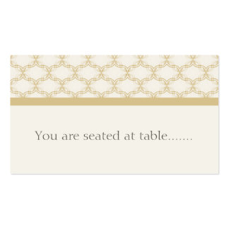 Simply Glamourous Wedding Placecard, Latte Pack Of Standard Business Cards