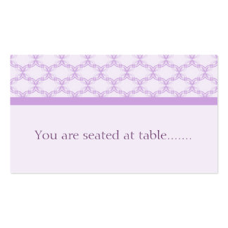 Simply Glamourous Wedding Placecard, Lavender Double-Sided Standard Business Cards (Pack Of 100)