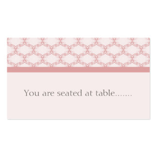 Simply Glamourous Wedding Placecard, Light Pink Pack Of Standard Business Cards