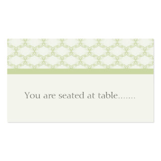 Simply Glamourous Wedding Placecard, Sage Green Pack Of Standard Business Cards