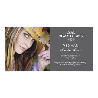 Simply Gorgeous Graduation Announcement Customized Photo Card