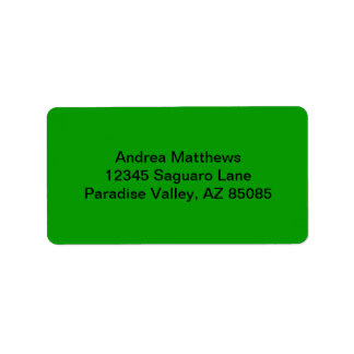 Simply Green Solid Color Address Label