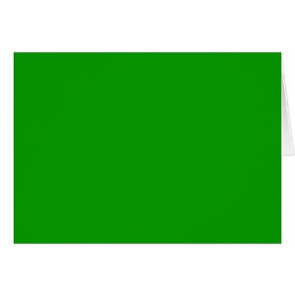 Simply Green Solid Color Greeting Card