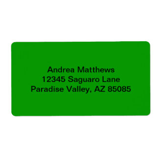 Simply Green Solid Color Shipping Label