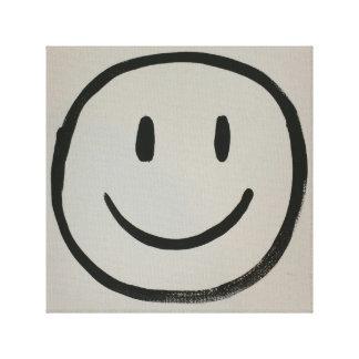 simply happy canvas print