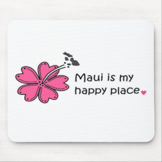 Simply Happy on Maui Mouse Pad