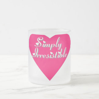 Simply Irresistible Frosted Glass Coffee Mug