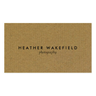 Simply Kraft Calling Card Business Card Template
